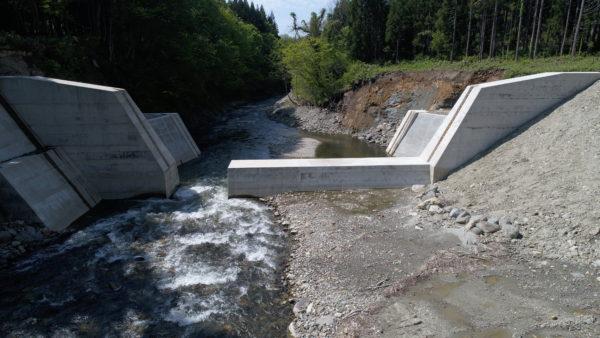 足水川上流砂防堰堤その2工事